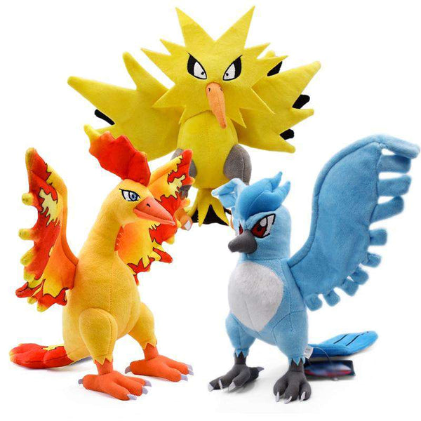 Pokemon Legendary Birds Plushies