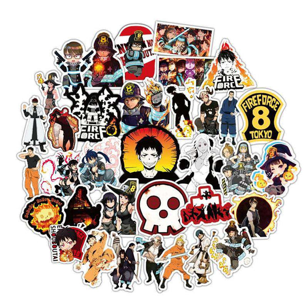 50pcs Fire Force Sticker Collection