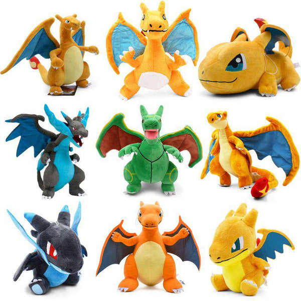 9 Styles Pokemon Charizard Plushies