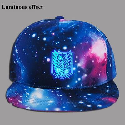 Attack on Titan Anime Galaxy Snapback Hat