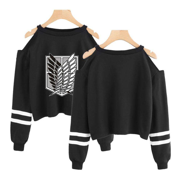 Anime Attack on Titan Cropped Sweatshirt