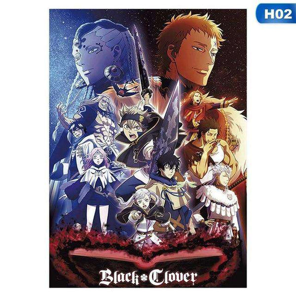 Black Clover Silk Posters 29*42