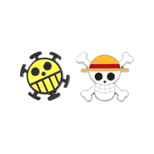 One Piece Anime Luffy & Trafalgar Law Crew Logo Pin