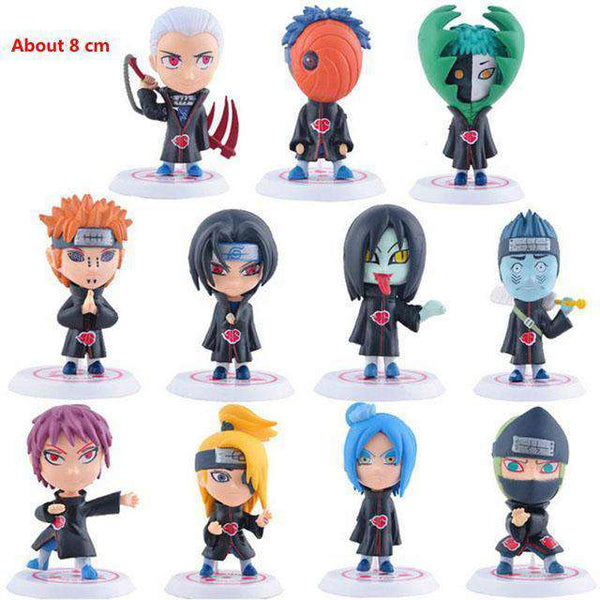 Naruto & One Piece Action Figure Sets