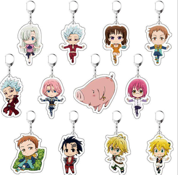 Seven Deadly Sins Keychain Collection