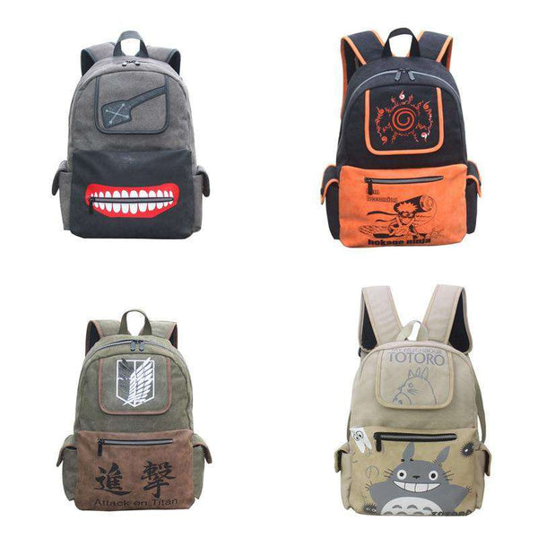 Anime Backpacks 4 Set