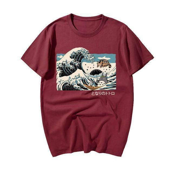 Tonari No Totoro Anime Japanese Wave Shirt