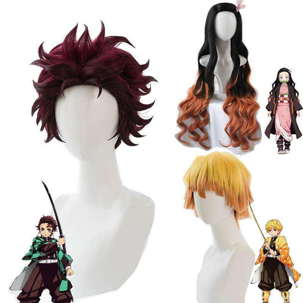 Demon Slayer Wig Cosplay Set