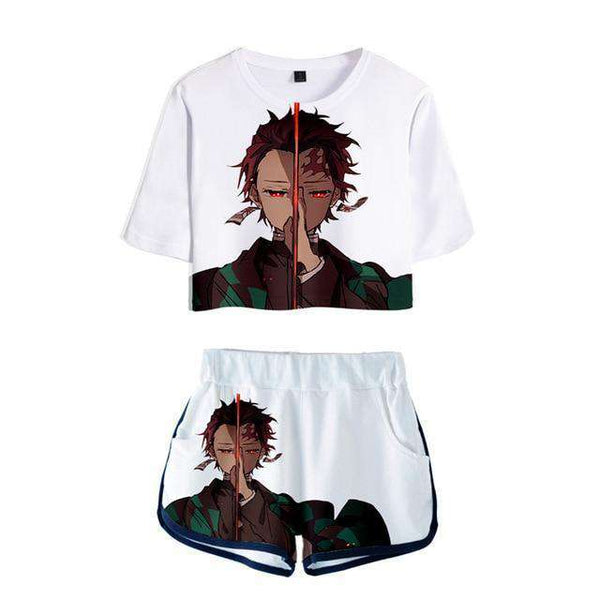 Demon Slayer Kimetsu no Yaiba Girls Top/Bottoms