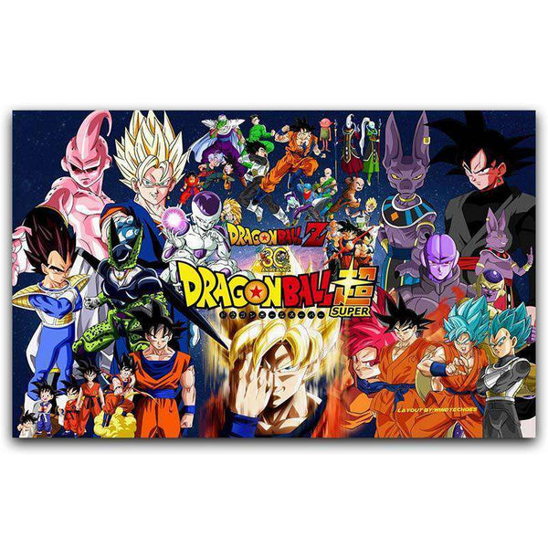 Dragon Ball Z Character Silk Poster