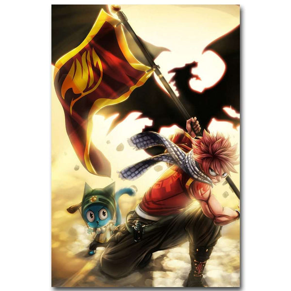 Fairy Tail Fabric Poster