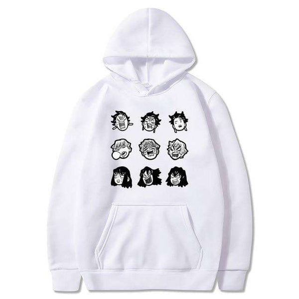 Demon Slayer Face Hoodie
