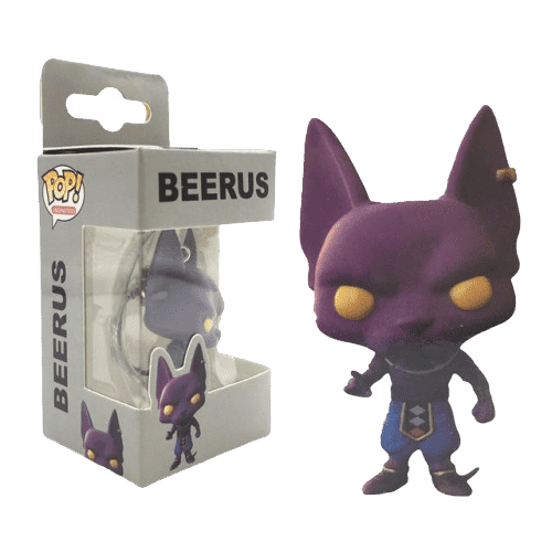 Dragon Ball Z Anime Beerus Funko POP Keychain