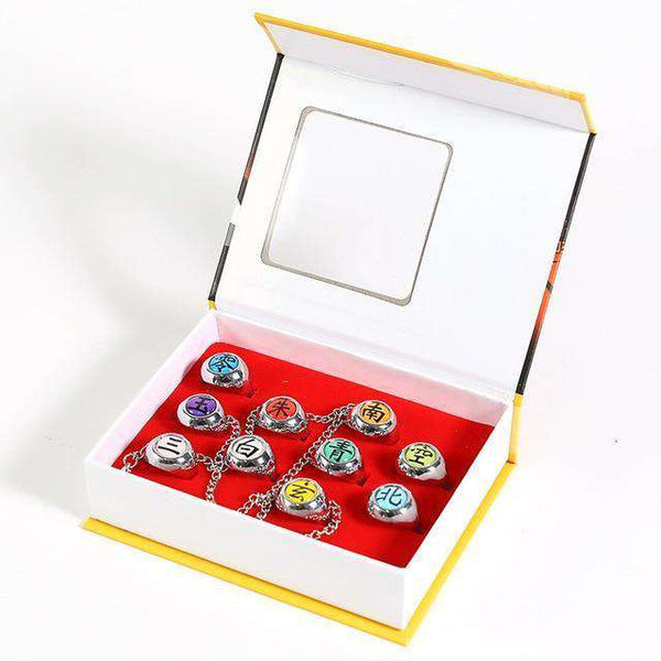 Naruto Akatsuki Rings Full Set