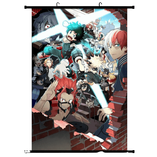 My Hero Academia Anime Wall Scroll Poster