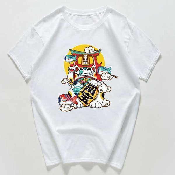 Japanese Harajuku Lucky Cat Shirt
