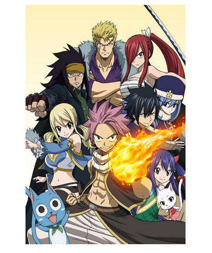 Fairy Tail Silk Wall Poster