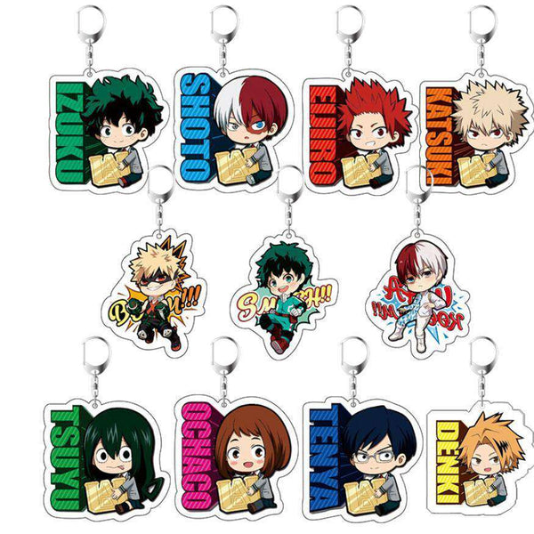 My Hero Academia Anime Keychains