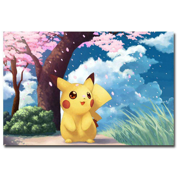 Pokemon Silk Pikachu Poster
