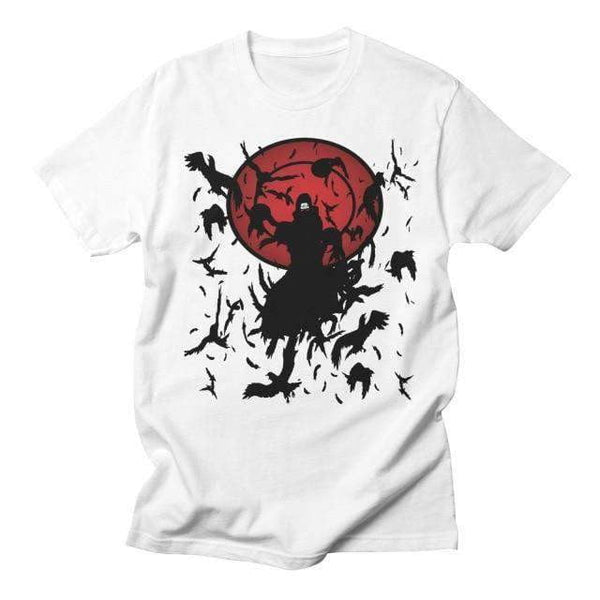 Naruto Anime Itachi Uchiha Crows T Shirt