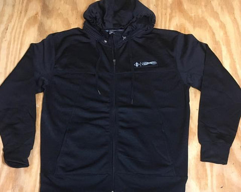 Polytech zip hooded sweat shirt