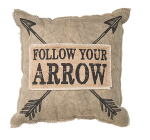 Follow Your Arrow Pillow - Primitives By Kathy