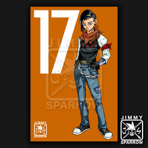 "Android 17 Redesign *LIMITED PRINT* - 11"" X 17"" Poster"