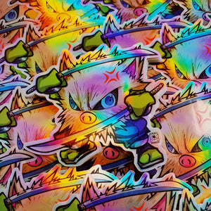 *LIMITED EDITION* HOLOGRAPHIC Demon Slayer X Pokémon: Inosukape Sticker