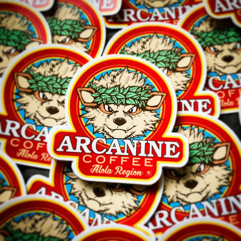 Arcanine Coffee Sticker