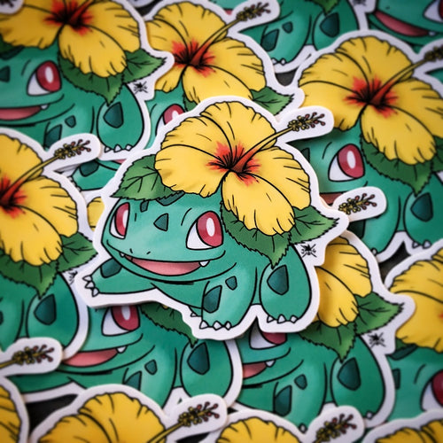 Alolan (Hibiscus) Bulbasaur Sticker
