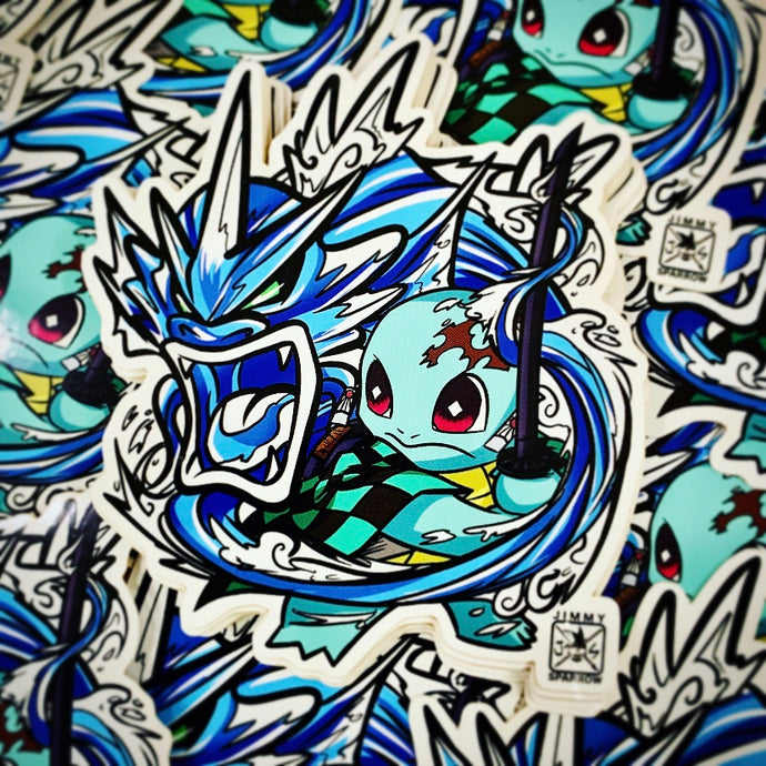 Demon Slayer X Pokémon: Squirjiro Sticker