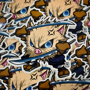 Demon Slayer X Pokémon: Inosuke Sticker