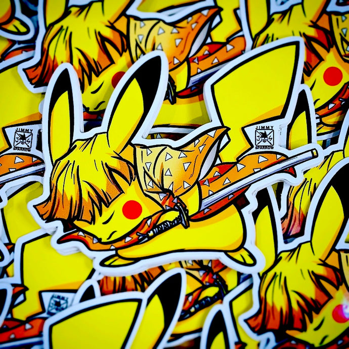 Demon Slayer X Pokémon: Zenitsu Sticker