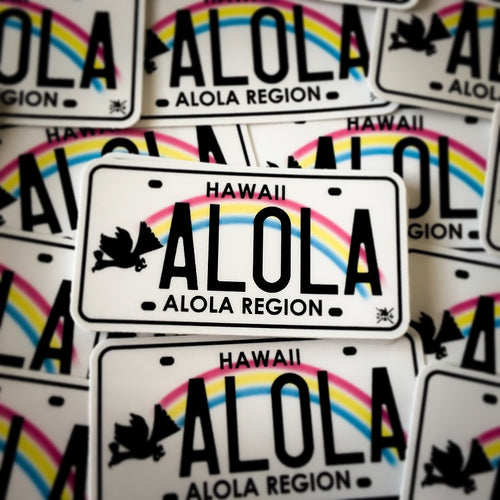 Alola Region License Plate Sticker