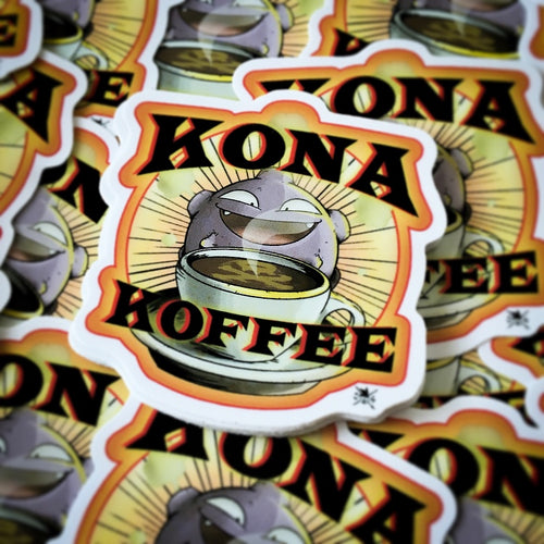 Kona Koffee Sticker