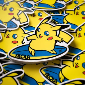 Surfing Pikachu Sticker