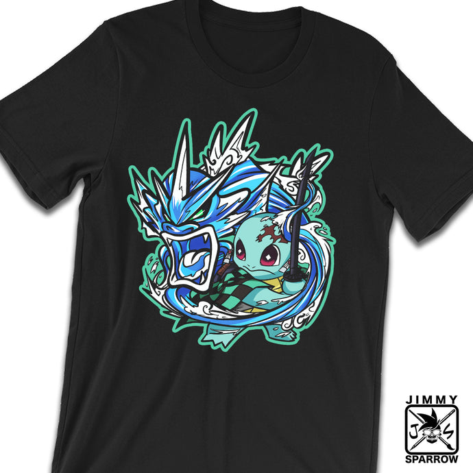 *PRE-ORDER* Demon Slayer X Pokémon: Squirjiro - Unisex T-Shirt