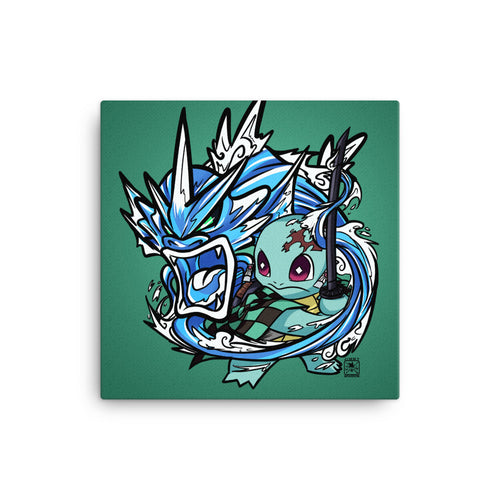 "Demon Slayer X Pokémon: Squirjiro (8""x8"
