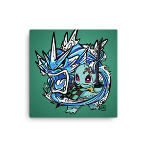 "Demon Slayer X Pokémon: Squirjiro (8""x8"" Canvas Print)"