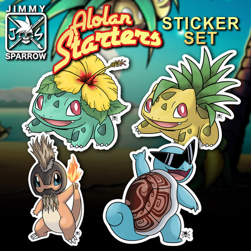 Alola Starters Sticker Set (4 pc)