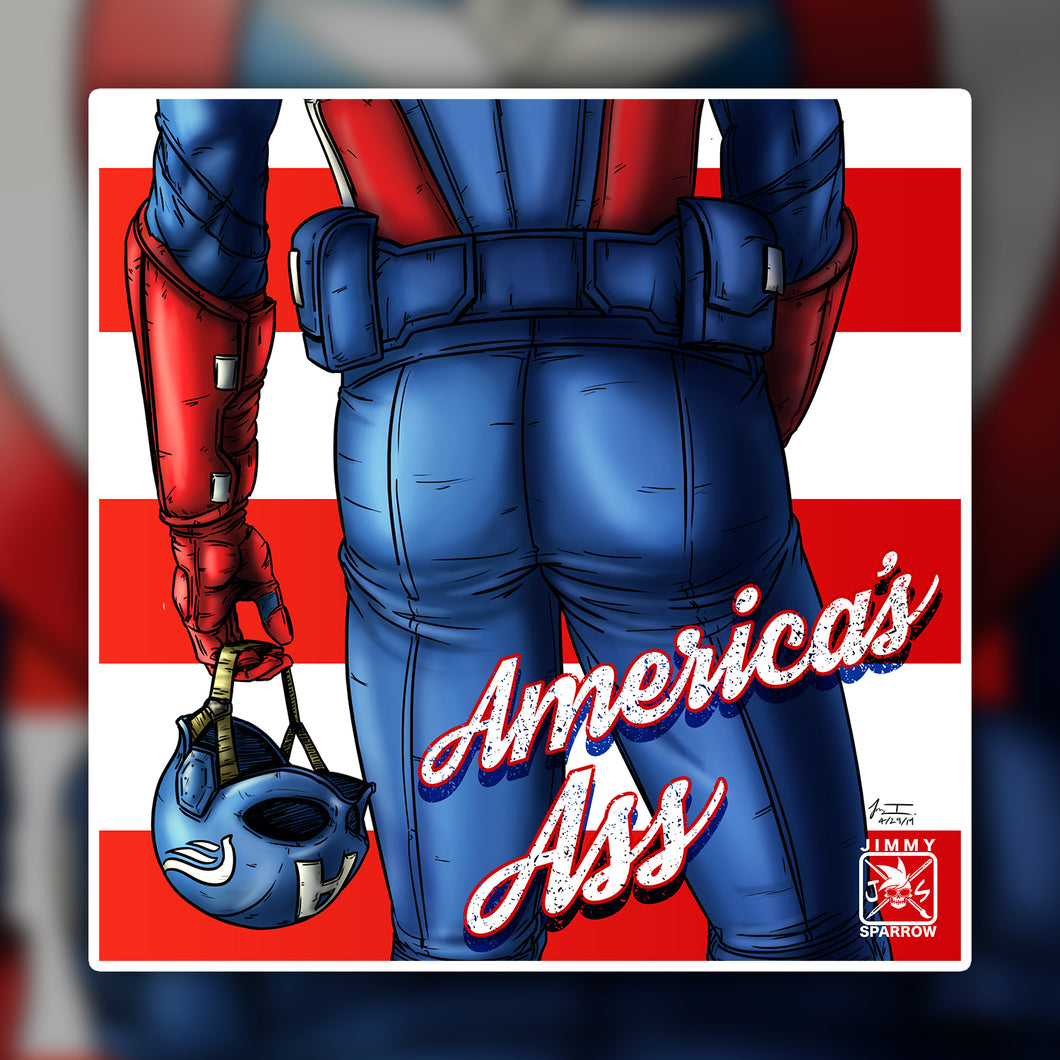 America's Ass Sticker