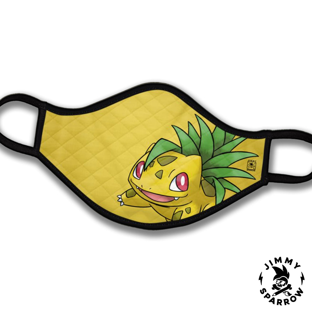 Alolan Pineapple Bulbasaur Face Mask