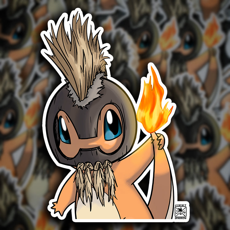 "6"" Alolan (Night Marcher) Charmander Peeker Sticker"