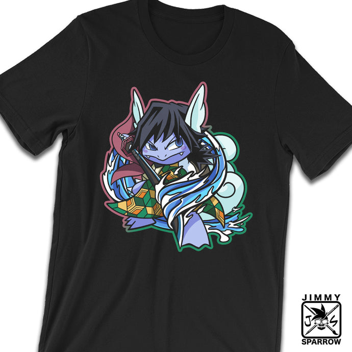 *PRE-ORDER* Demon Slayer X Pokémon: Giyutortle - Unisex T-Shirt