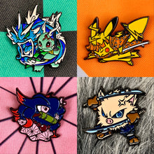 Load image into Gallery viewer, Demon Slayer X Pokémon Soft Enamel Pin 4pc Set