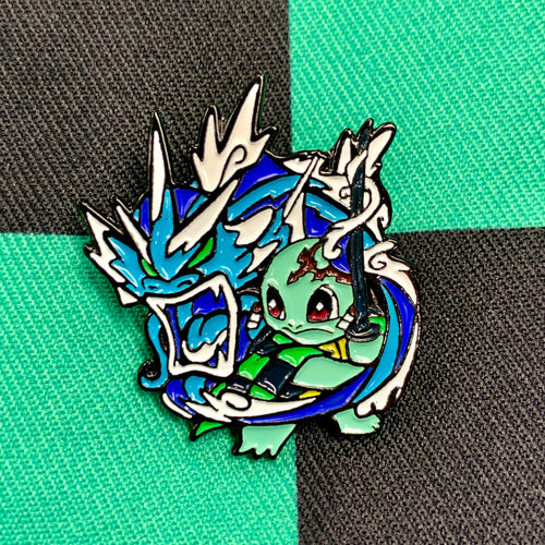 Demon Slayer X Pokémon: Squirjiro Soft Enamel Pin