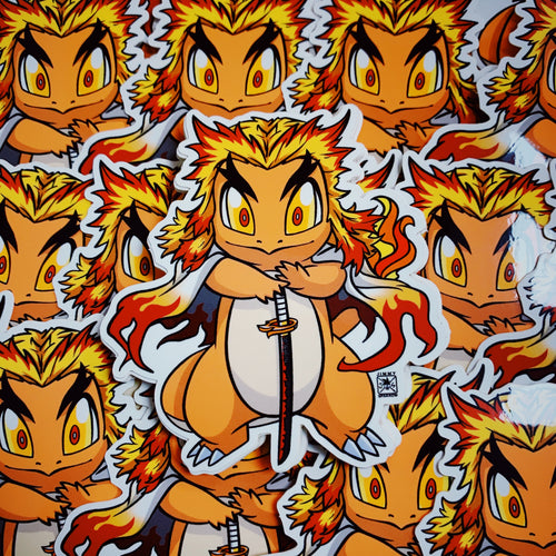 Demon Slayer X Pokémon: Rengoku Sticker