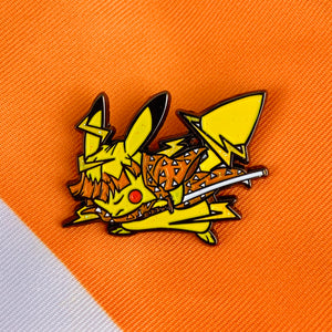 Demon Slayer X Pokémon: Zenitsu Soft Enamel Pin