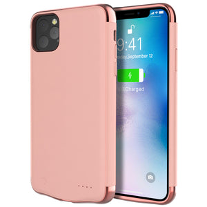 Cover Batteria Phone 11 Pro 6000mAh Power Bank Backup Battery Charger Case Roseo Oro