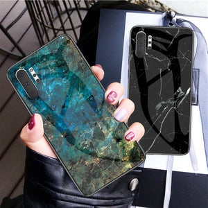 Cover in vetro per Samsung Galaxy Note 10 plus TPU antiurto verde